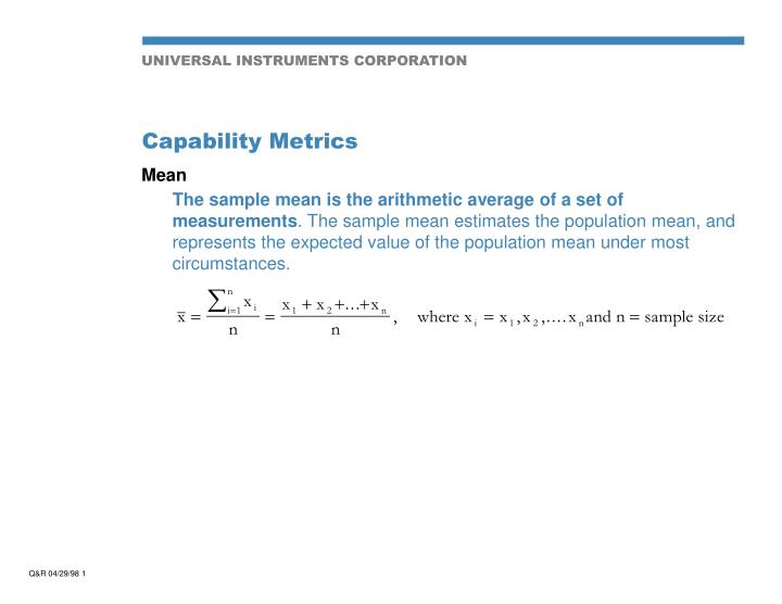 capability metrics n.