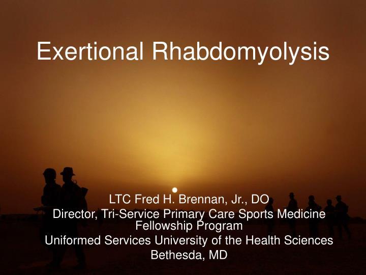 exertional rhabdomyolysis n.