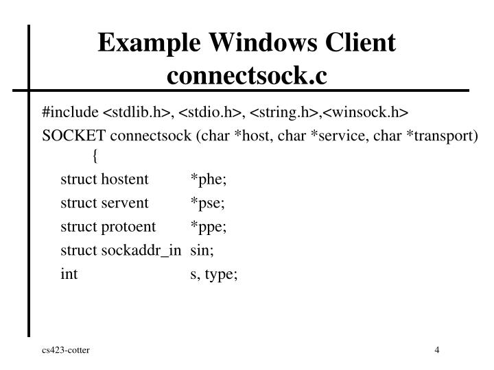 Example Windows Client