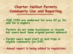 charter halibut permits community use and reporting