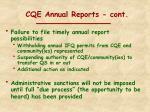cqe annual reports cont1