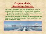 program goals measuring success
