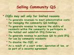 selling community qs