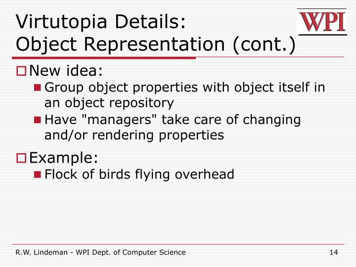 Virtutopia Details:
