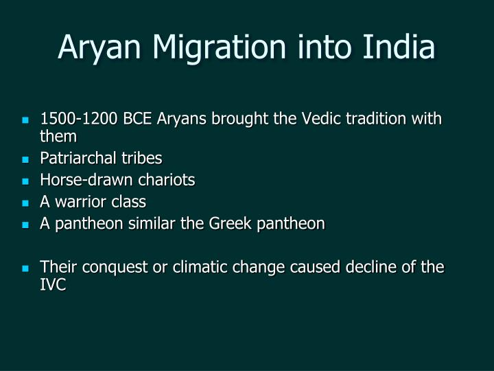 aryan migration into india n.