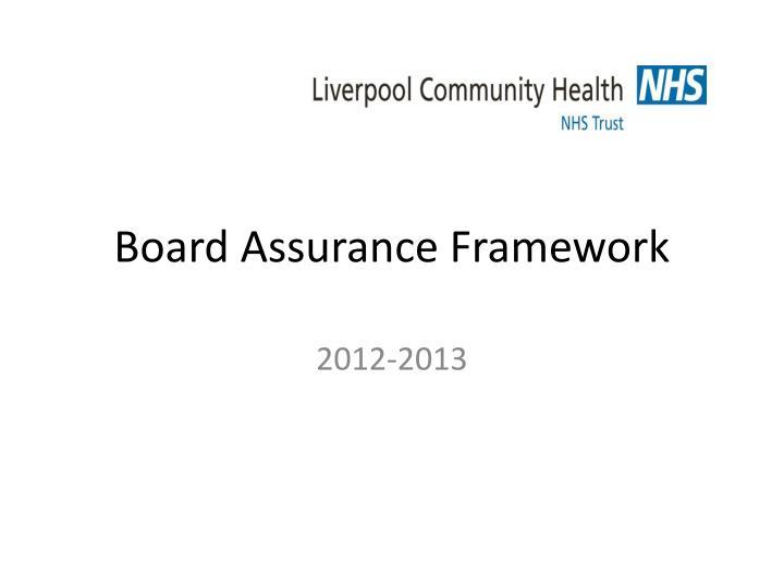 board assurance framework n.