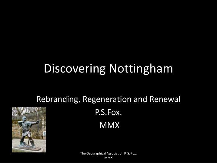 discovering nottingham n.