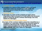b consist the provisions of contract