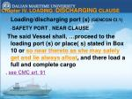 chapter iv loading discharging clause