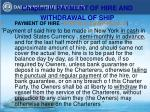 chapter iv payment of hire and withdrawal of ship