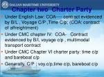 chapter two charter party