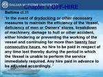 chapter v off hire