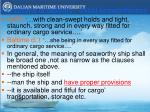 conditions of delivery initial seaworthiness