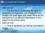 freedom of contract for time bareboat c p
