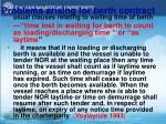 problems arising for berth contract
