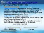 the time of redelivery