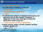 vessel s speed and fuel consumption