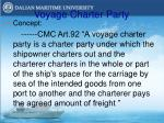 voyage charter party