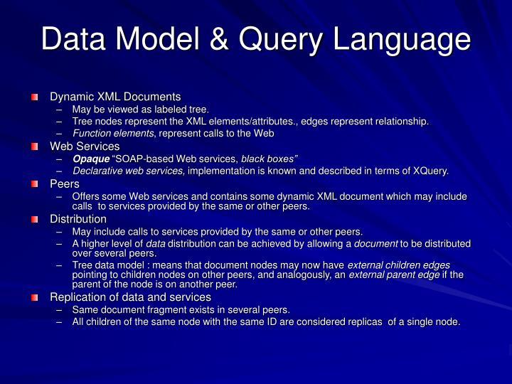 Data Model & Query Language