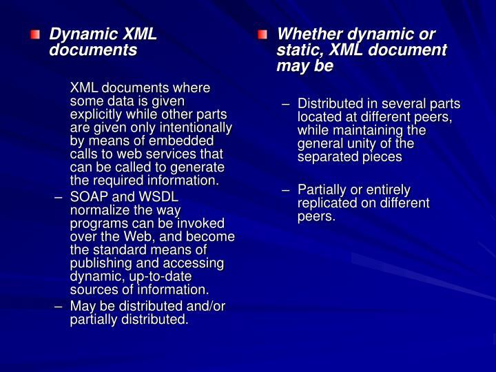 Dynamic XML documents