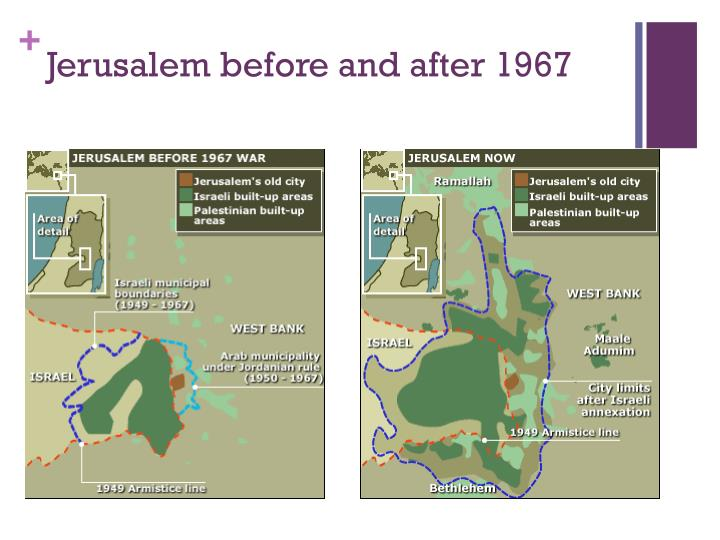 Jerusalem before and after 1967