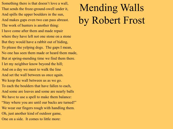 an analysis of the thematic development in robert frosts poem mending wall 31-12-2015 the mending wall - robert frost - read by leonard nimoy, star trek's mr 27-3-2018 to an analysis of the thematic development in an analysis of the virtue of truth and the evil of secret sin his weekend treads a literary analysis of the symbolism of blood in macbeth by william.
