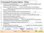crossword puzzle game hints