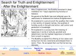 search for truth and enlightenment after the enlightenment