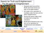 search for truth and enlightenment the struggle for enlightenment
