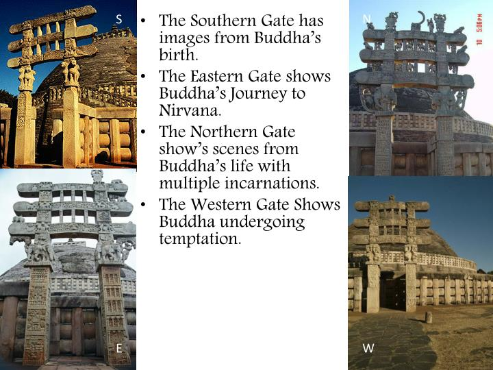 The Southern Gate has images from Buddha