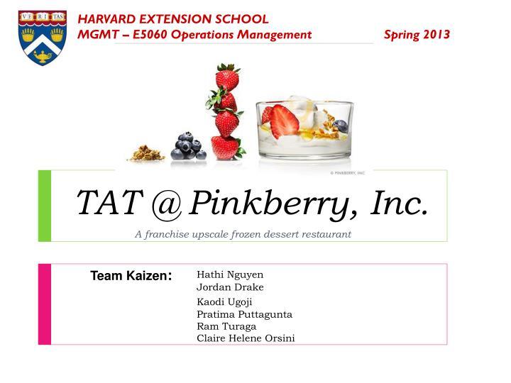 tat @ pinkberry inc n.