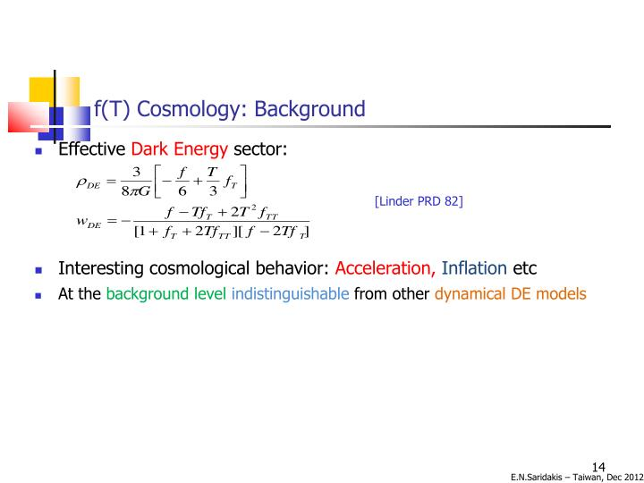 f(T) Cosmology: Background