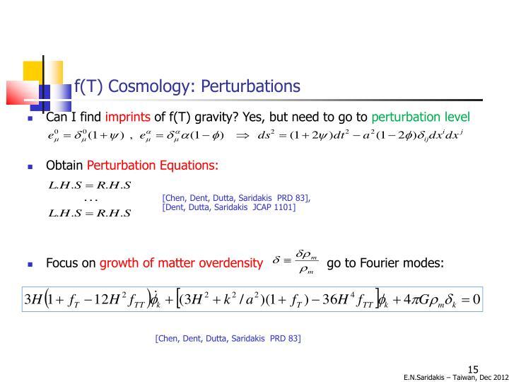 f(T) Cosmology: Perturbations