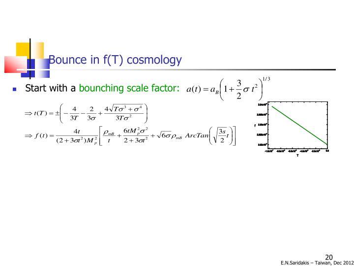 Bounce in f(T) cosmology