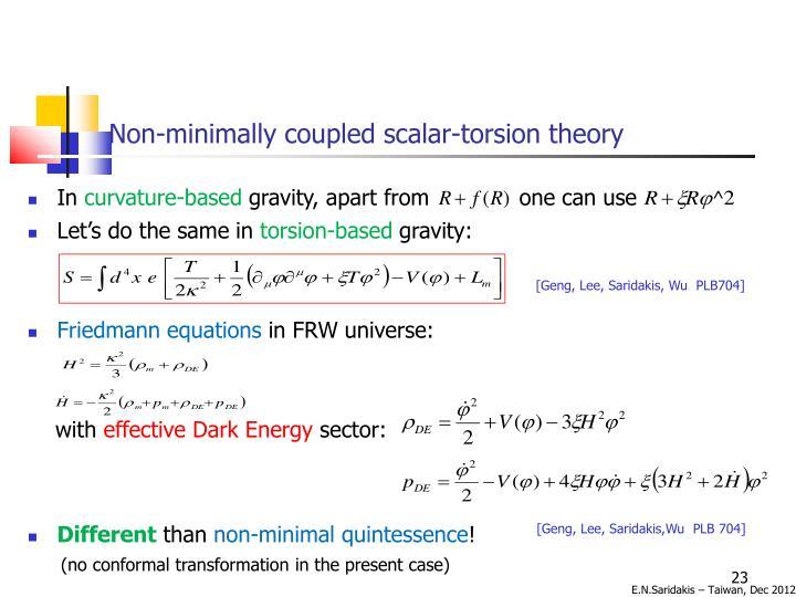 Non-minimally coupled scalar-torsion theory