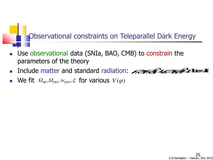 Observational constraints