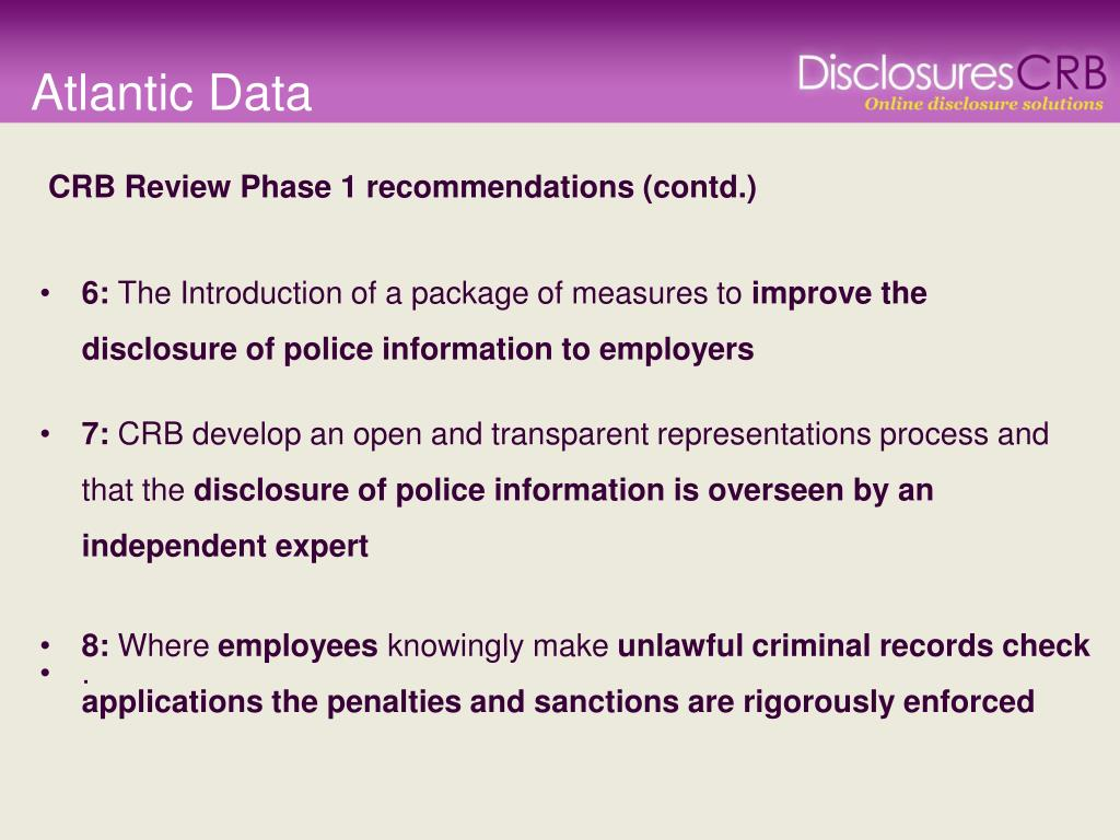 PPT - The Future of CRB Disclosures for HCPA Members From