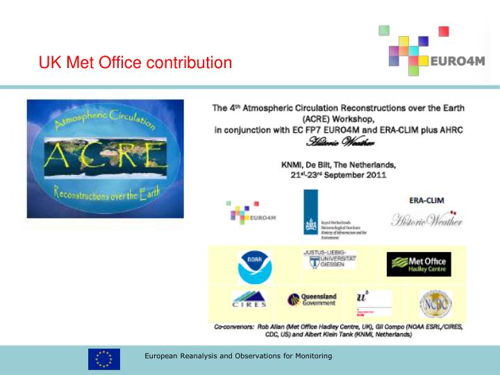 UK Met Office contribution