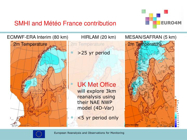 SMHI and Météo France contribution