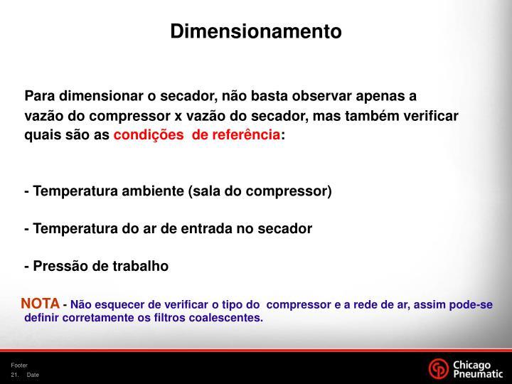 Dimensionamento