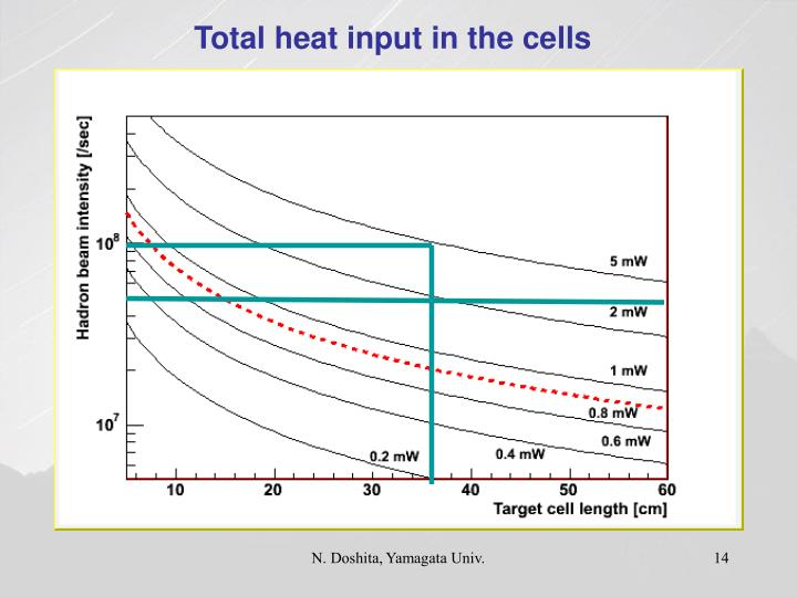 Total heat input in the cells