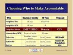choosing who to make accountable