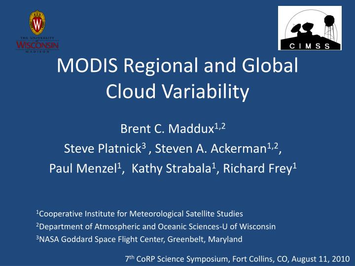 Modis regional and global cloud variability