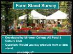 farm stand survey