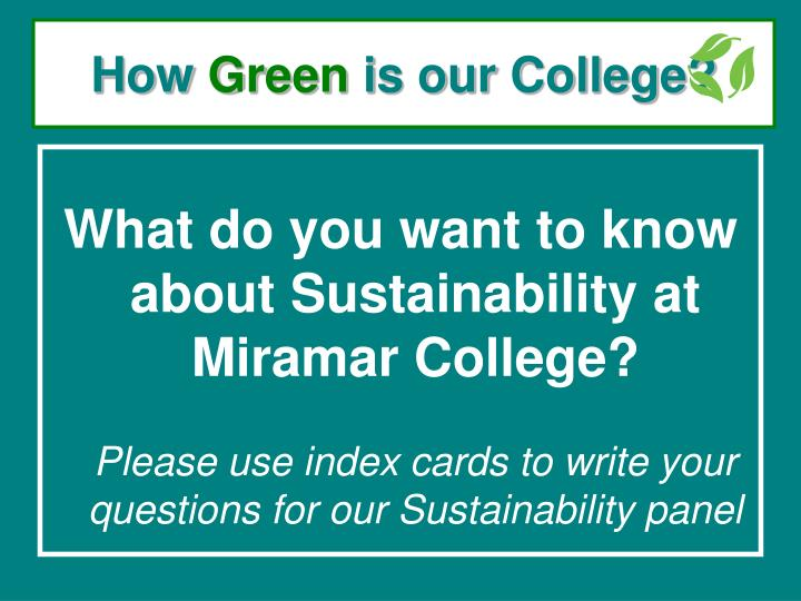 how green is our college n.