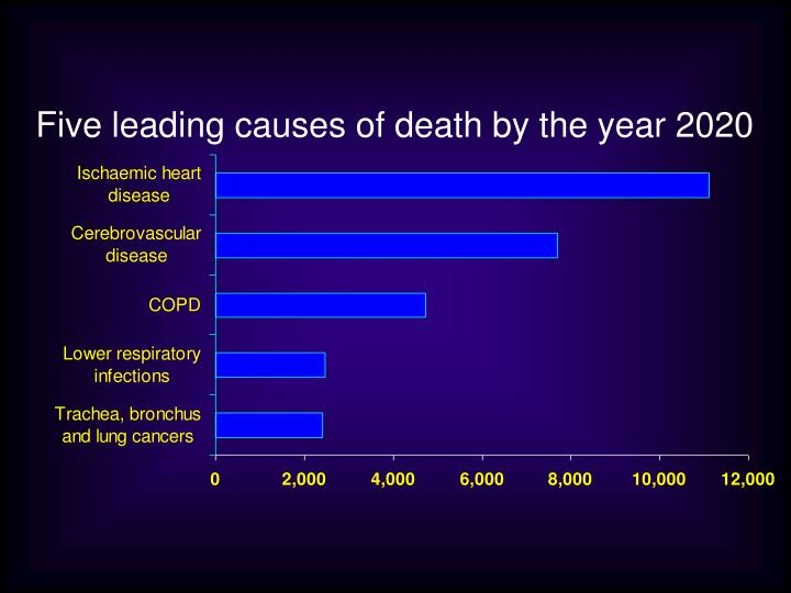Five leading causes of death by the year 2020
