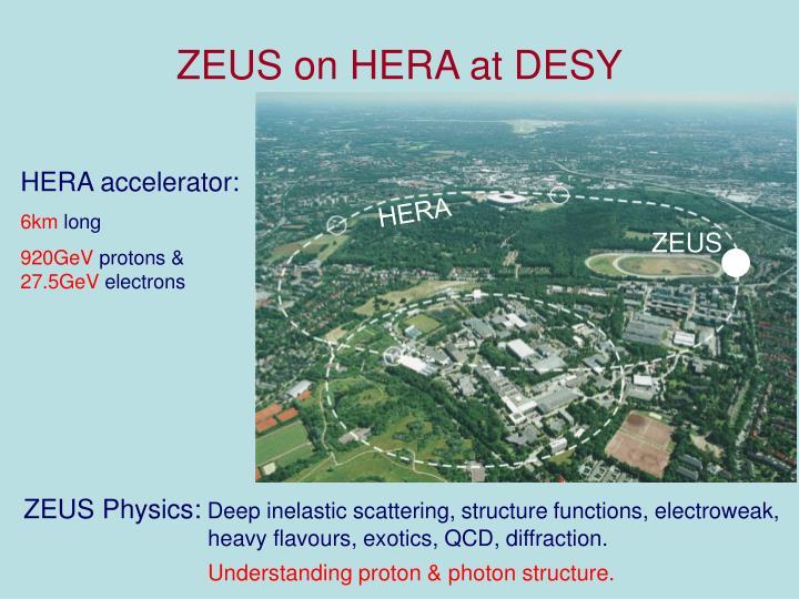 ZEUS on HERA at DESY