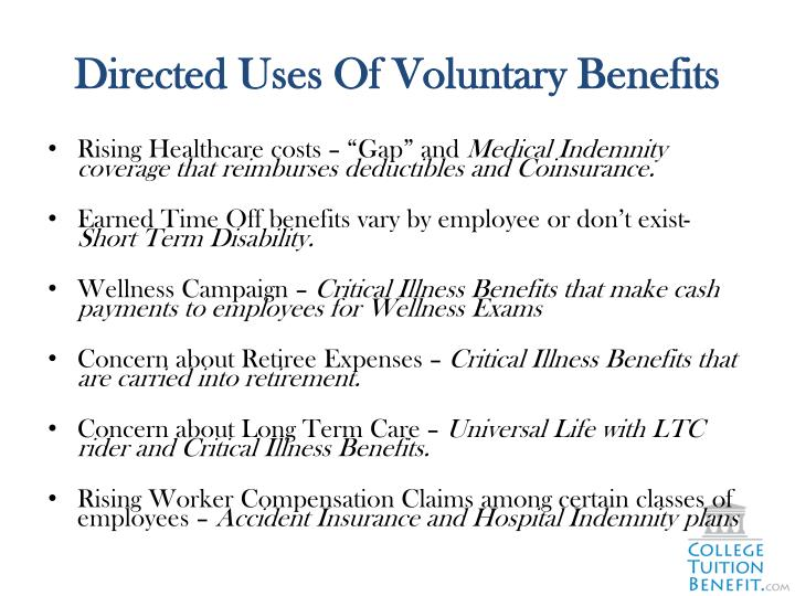 Directed Uses Of Voluntary Benefits