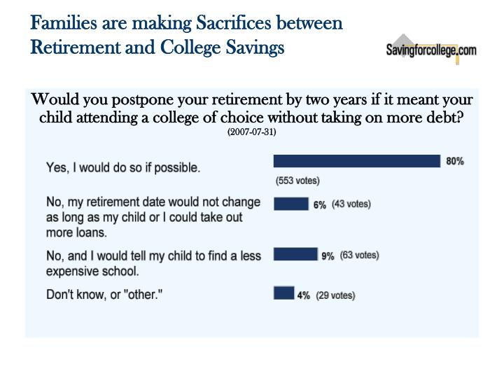 Families are making Sacrifices between