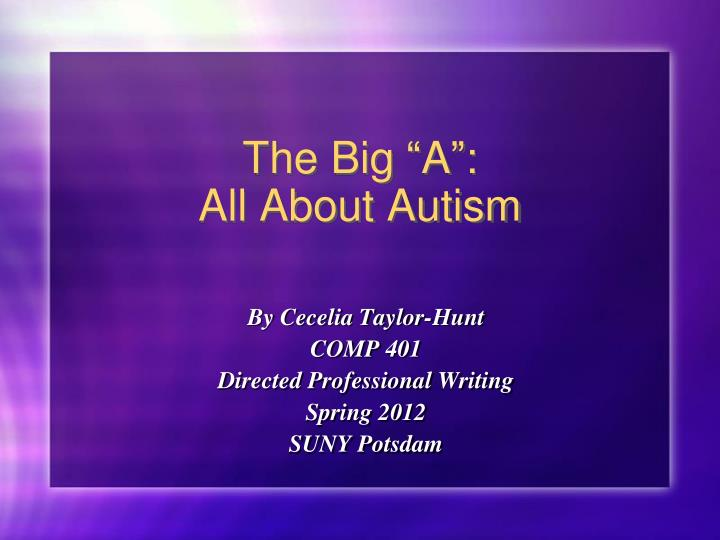 the big a all about autism n.
